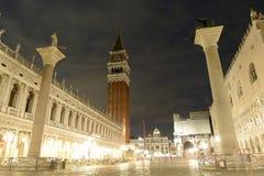 El St marca el cuadrado, Venecia, Italia Foto de archivo libre de regalías