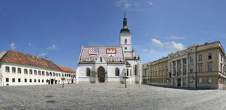 El St marca la iglesia, Zagreb Fotografía de archivo libre de regalías