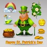 El St Patricks fijó 4 Fotos de archivo libres de regalías