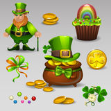 El St Patricks fijó 2 Fotos de archivo