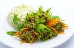 El stir de la carne frió el curry picante de la hierba (Kua Kling) Fotos de archivo libres de regalías