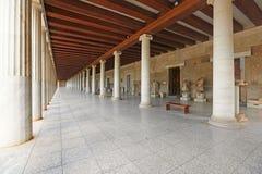 El Stoa de Attalos, Grecia Fotografía de archivo libre de regalías