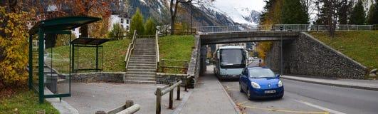 El streetscape de Chamonix, Francia Foto de archivo