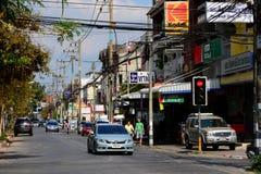 El strret, Chiang Mai, Tailandia fotografía de archivo libre de regalías
