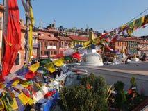 El Stupa de Bodnath, Nepal Fotografía de archivo libre de regalías