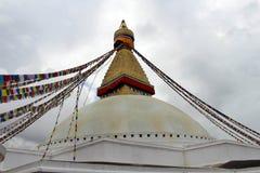 El stupa magnífico gigante de Boudhanath en Katmandu imagenes de archivo