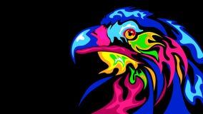 El stylization abstracto del águila ilustración del vector
