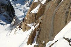 El subir de Mont Blanc Fotos de archivo libres de regalías