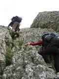 El subir de montaña Foto de archivo libre de regalías
