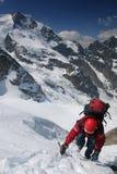 El subir de montaña Imagen de archivo