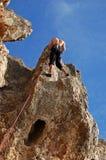 El subir de montaña en Guia Fotos de archivo libres de regalías
