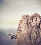 El subir del hombre de negocios Fotografía de archivo