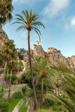 El subir a Guadalest Imagenes de archivo