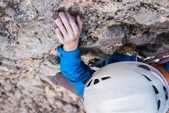 El subir practicante del muchacho Fotos de archivo