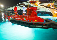 El submarino amarrado Imágenes de archivo libres de regalías
