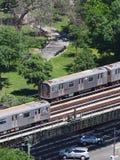 El subterráneo escénico de NYC conmuta imagen de archivo