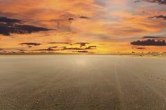El Suchego jeziora Mirażowy zmierzch Zdjęcie Royalty Free