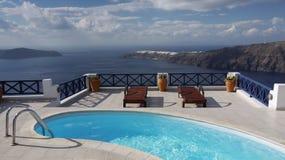 El sueño de Santorini imagen de archivo