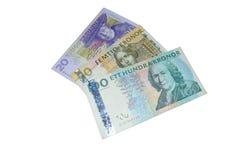 El sueco del Sek corona billetes de banco Fotografía de archivo libre de regalías