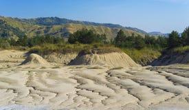 El suelo agrieta paisaje Imagenes de archivo