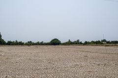 El suelo de la grieta en la estación seca, calentamiento del planeta/agrietó el fango secado/D imagenes de archivo