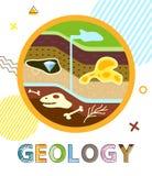 El suelo del cartel de la geología acoda el ejemplo del vector ilustración del vector
