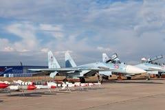 El Sukhoi Su-27 (nombre de la información de la OTAN: Flanker) Imagen de archivo libre de regalías