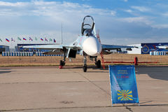 El Sukhoi Su-27 (nombre de la información de la OTAN: Flanker) Fotos de archivo