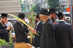 El Sukkot. Mercado de la ciudad del día de fiesta Foto de archivo libre de regalías