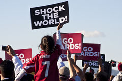 El Super Bowl cardinal de Arizona envía Foto de archivo
