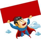 El super héroe levanta la muestra libre illustration