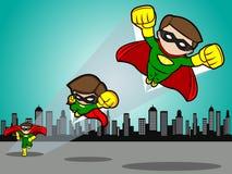 El super héroe saca Foto de archivo libre de regalías