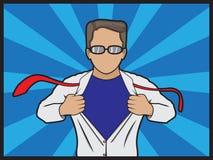 El super héroe transforma Foto de archivo