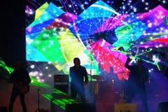 El supergroup búlgaro las leyendas vive concierto Imagen de archivo libre de regalías