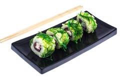 El sushi rueda con el atún Foto de archivo libre de regalías