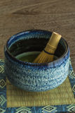 El té verde y bate Foto de archivo libre de regalías