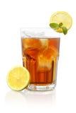 El té y el limón de hielo mezclan fresco de la miel muy aislados Imagenes de archivo