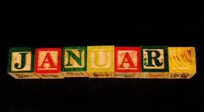 El término enero fotografía de archivo libre de regalías