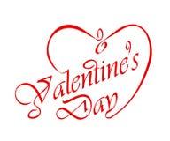 El título de la tarjeta del día de San Valentín caligráfica. Fotografía de archivo libre de regalías