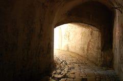 El túnel con tiempo Imagen de archivo libre de regalías