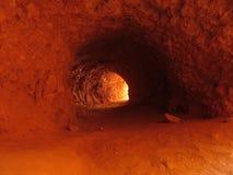 El túnel de la arcilla Fotografía de archivo libre de regalías