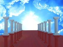 El túnel de la columna, 3d rinde Fotos de archivo libres de regalías