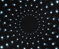 El túnel de luces que brillan intensamente Fotografía de archivo libre de regalías