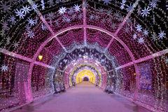El túnel ligero en el bulevar de Tverskoy Imagenes de archivo