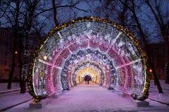 El túnel ligero en el bulevar de Tverskoy Fotos de archivo