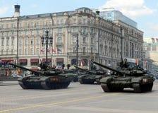 El T-90A es tanque de batalla principal ruso de tercera generación Foto de archivo libre de regalías