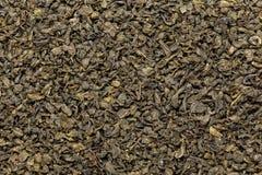 El té verde orgánico (sinensis de la camelia) secó las hojas enteras Fotografía de archivo libre de regalías