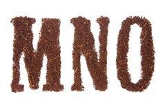 El tabaco letra MNO Fotografía de archivo