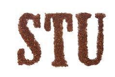 El tabaco letra STU Fotos de archivo libres de regalías