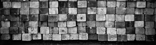 El tablón de madera cuadrado alinea imagen de fondo Fotografía de archivo libre de regalías